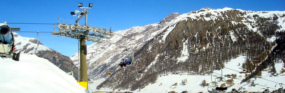 The famous ski resorts of Livigno